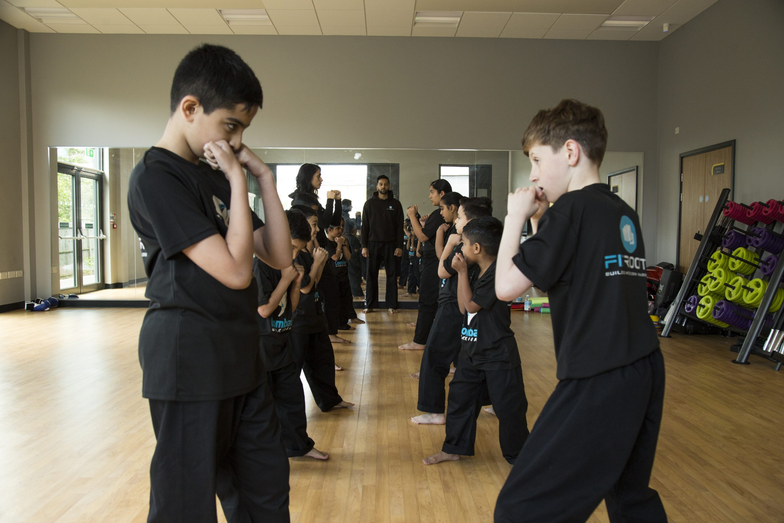 Kid's Martial Arts and Kickboxing Class at FitRoots