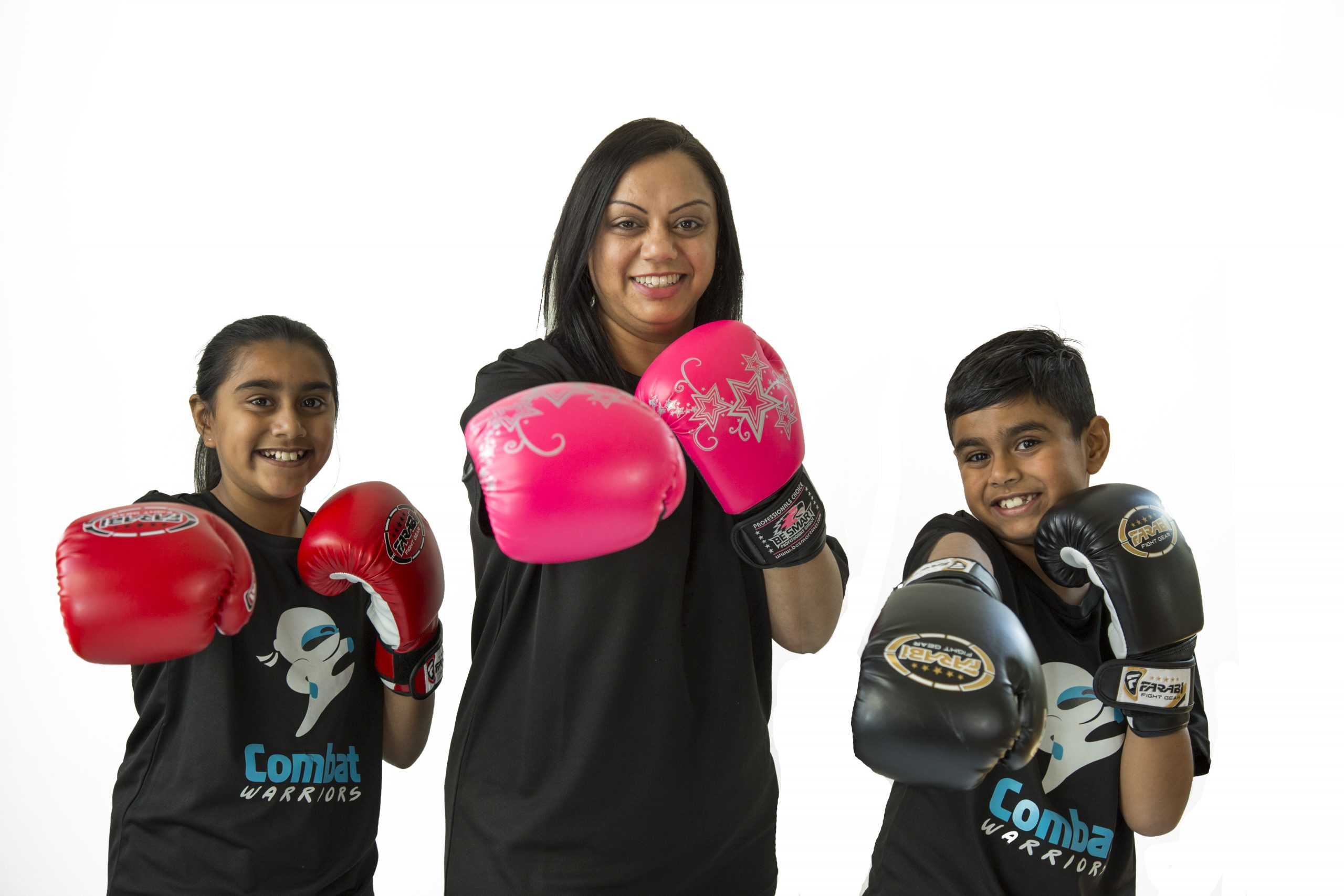 Family Training Together In Martial Arts