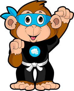 Mini Monkeys Martial Arts Mascot