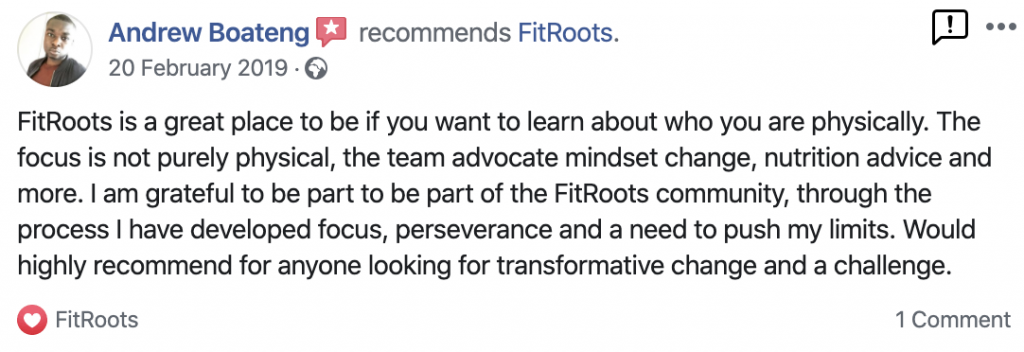 Andrew's FitRoots Review