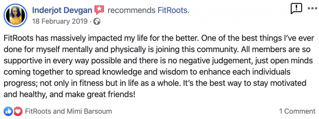 Indie's FitRoots Review