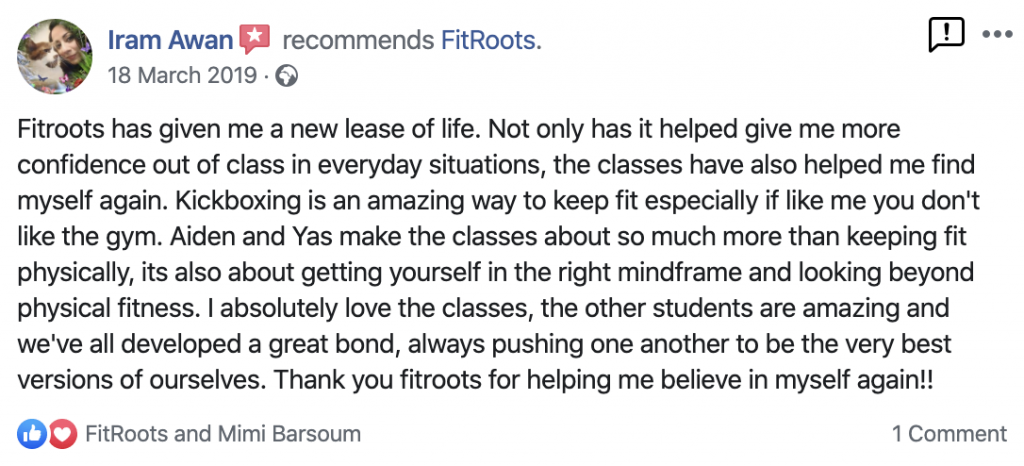 Iram's FitRoots Review